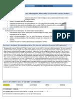 professional competencies self-evaluation sheets copy
