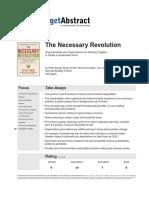 The Necessary Revolution Getabstract Summary