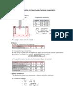 Diseño Tapa de Concreto