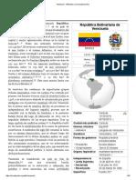 Venezuela - Wikipedia, la enciclopedia libre.pdf