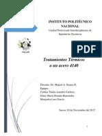TRATAMIENTOS TÉRMICOS  Acero4140