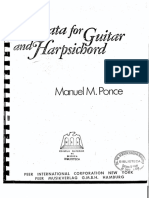 Ponce Sonata for Guitar and Harpsichord