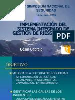 Implementación SIGER- Raura