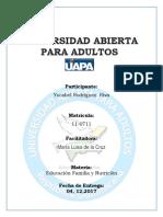 Tarea 5 de Educacion, Familia y Nutricion.