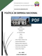 Politica de Defensa Nacional 1