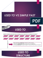 Used to vs Simple Past