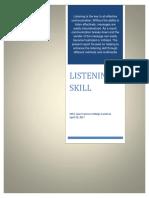 Enhancing the Listening Skill