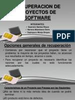 Recuperacion de Proyectos de Software