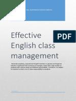 Effective English Class Management