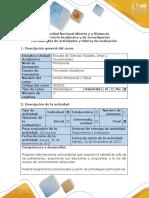 Guía de Actividades y Rúbrica de Evaluación - Paso 5 - Formulación de Una Propuesta de Intervención, Desde La Educación en Salud