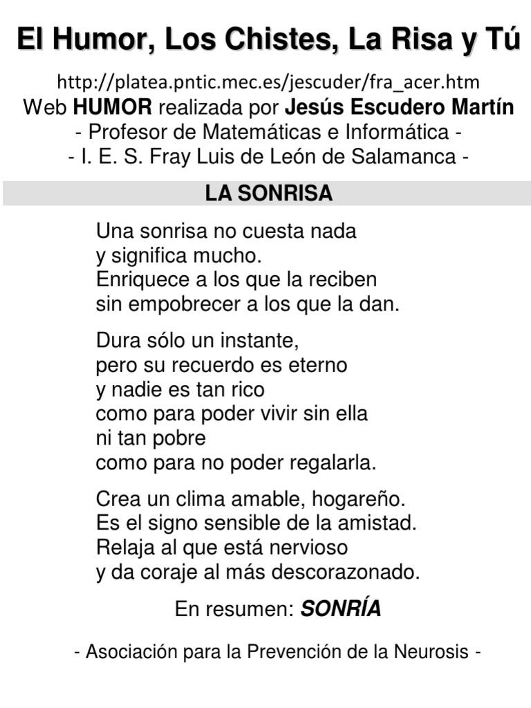 best loved 03fca 8d169 Escudero Martin, Jesus   MEC (2000). El Chiste El Humor La Risa y Tu.pdf