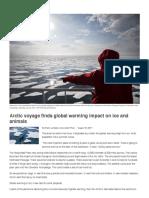 arctic voyage finds global warming impact on ice and animals   smithsonian tweentribune