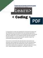 Lista de Más de 35 Páginas Web Para Aprender Programación Gratuita