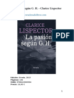 Devoradora de Libros -- Clarice Lispector - La Pasión Según G H