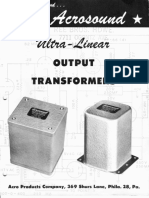 AcroSound Ultralinear Output Transformers (Amplifier Schematics) (1954)
