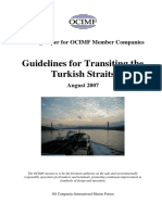 OCIMF Guide Turkist Straits