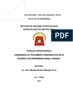 Monografia Adherencia Al Tratamiento Dialítico
