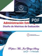 Diseño de Matrices de Evaluacion