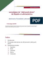 """Estrategias de """"Debt Push-down """" de España a Latinoamérica"""