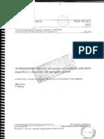 NTP 400.021 Peso Especifico y Absorcion Del Agregado Grueso