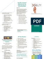 brochure for iep and udl