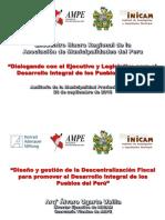 La descentralización en el Perú.