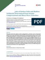 Poisson's Ratio of Surface Soils