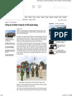 20171208 Công an Xã Được Trang Bị Vũ Khí Quân Dụng - NLD