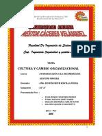 Cultura y Cambio Organizacional