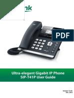 Yealink SIP-T41P User Guide