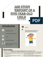 case study powerpoint of a five-year-old child