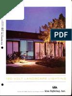 Kim Lighting 120 Volt Landscape Lighting Catalog 1971
