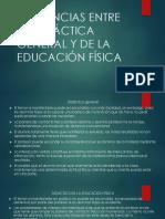 Diferencias Entre La Didáctica General y de La eduacion fisica