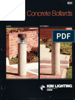 Kim Lighting B31 Precast Concrete Bollard Brochure 1987