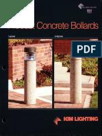 Kim Lighting B31 Precast Concrete Bollard Brochure 1994