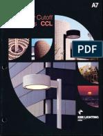 Kim Lighting CCL Curvilinear Cutoff Luminaires Brochure 1984