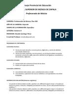 Programa Guitarra II -2017- Lic Nicolás Pérez