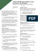 Edexcel Nov 2001 Paper 5