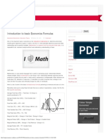 Economics Formulas 1