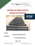 Inf. Fabricacion Barras de Arrastre