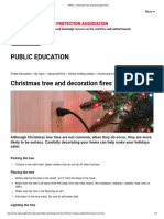 nfpa - christmas tree and decoration fires