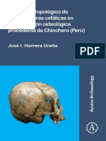 Estudios Antropologicos de Las Estructuras Cefalicas en Una Coleccion Osteologica Procedente de Chincheros Peru