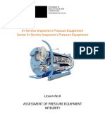 Isi Lesson 06 Assessment of Pressure Equipment Integrity