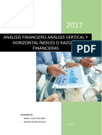 Analisis Horiziontal Vertical y Ratios Financieros