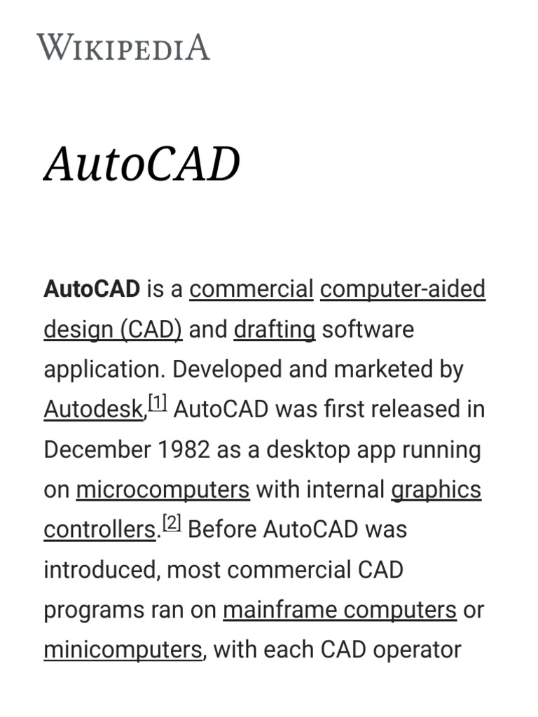 Autocad Wikipediapdf Auto Cad Computer Related Introductions