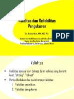 Validitas Dan Reliabilitas Pengukuran_Dr Bhisma