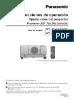 Manual Proyector Panasonic 16K