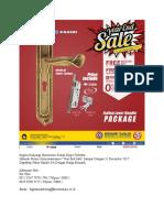 0812 8567 7070, Promo Akhir Tahun Kenari Djaja, Promo Paket Handle Murah, Promo Banting Harga