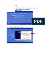 Guideliness for Installing Windows XP
