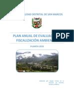 Plan Anual de Fiscalización Ambiental